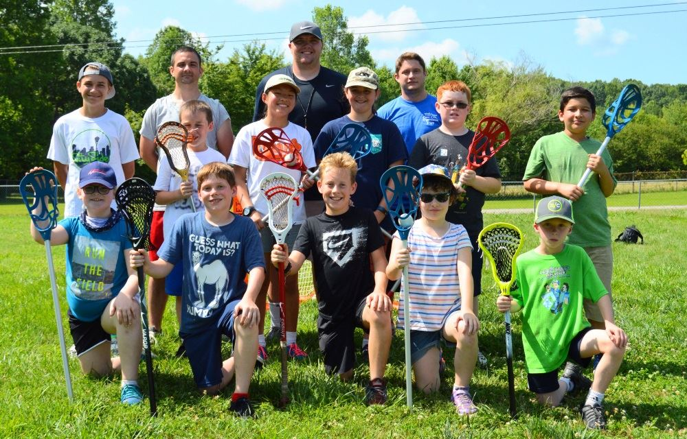 Children gather during Lacrosse Camp.