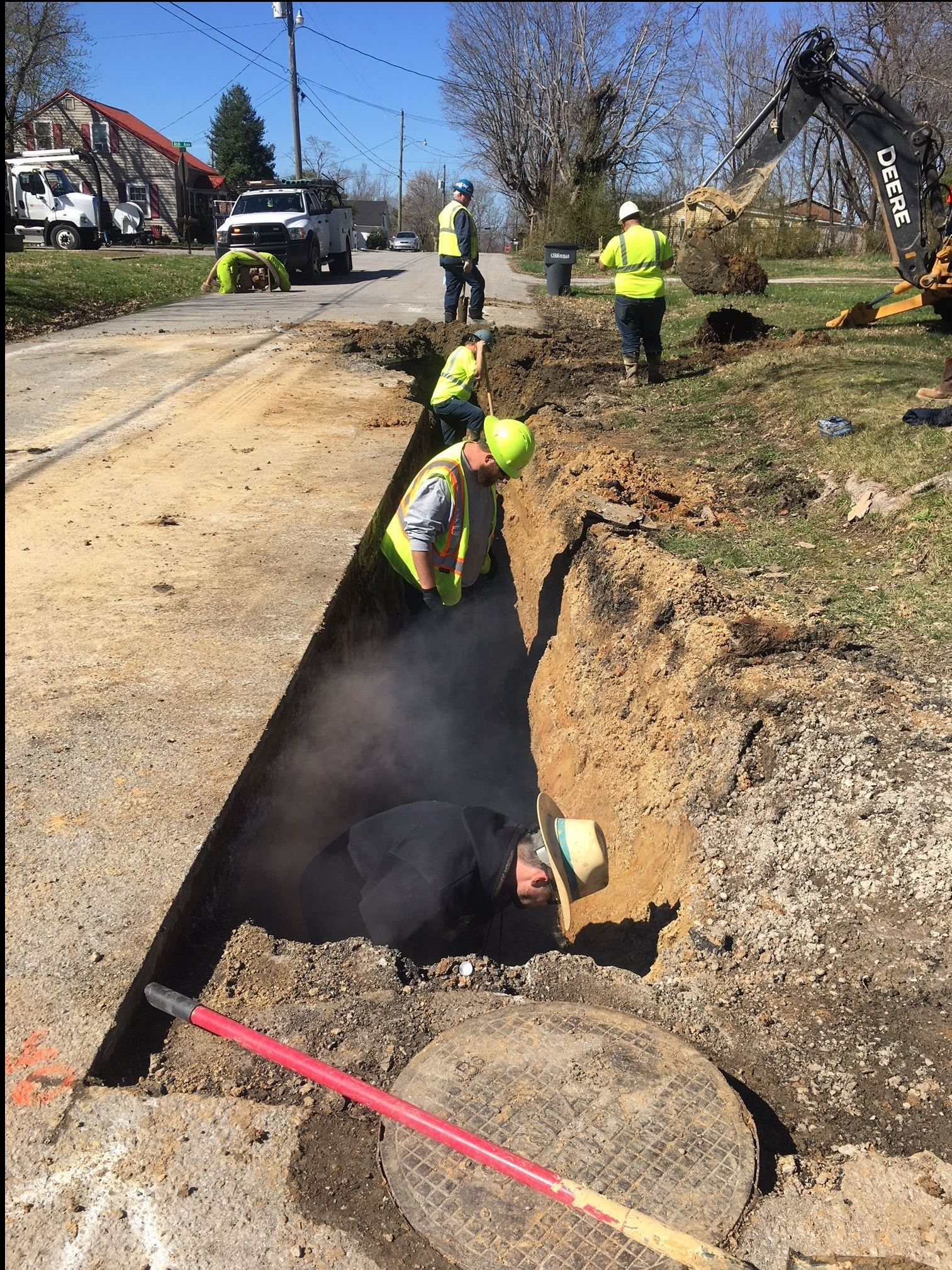 Crews Making Improvements to Sewer Main