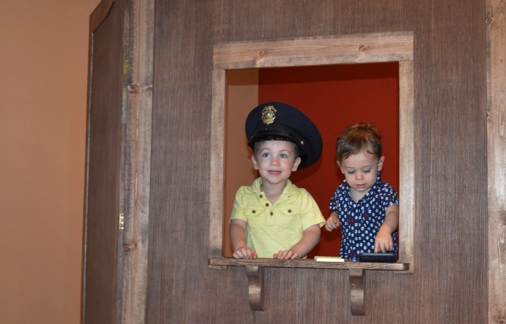 Children look at an exhibit at the Cookeville History Museum.