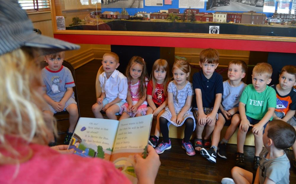 Children enjoy Train Tales at the Cookeville Depot.