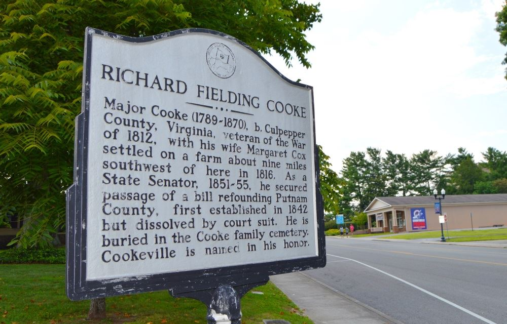 Historical marker honoring Richard Fielding Cooke