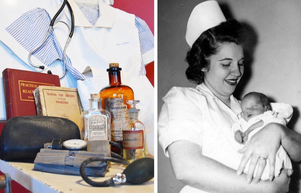 Nursing exhibit at Cookeville History Museum