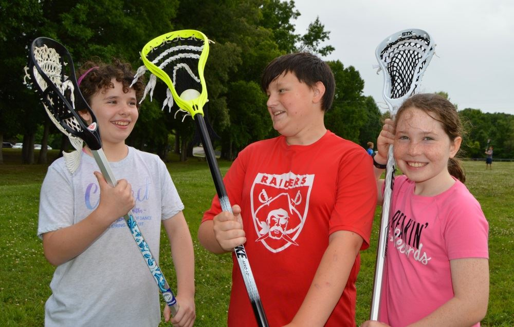 Children participate in summer Lacrosse Camp.