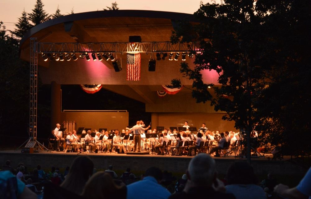 Cookeville Community Band performs at Dogwood Performance Pavilion