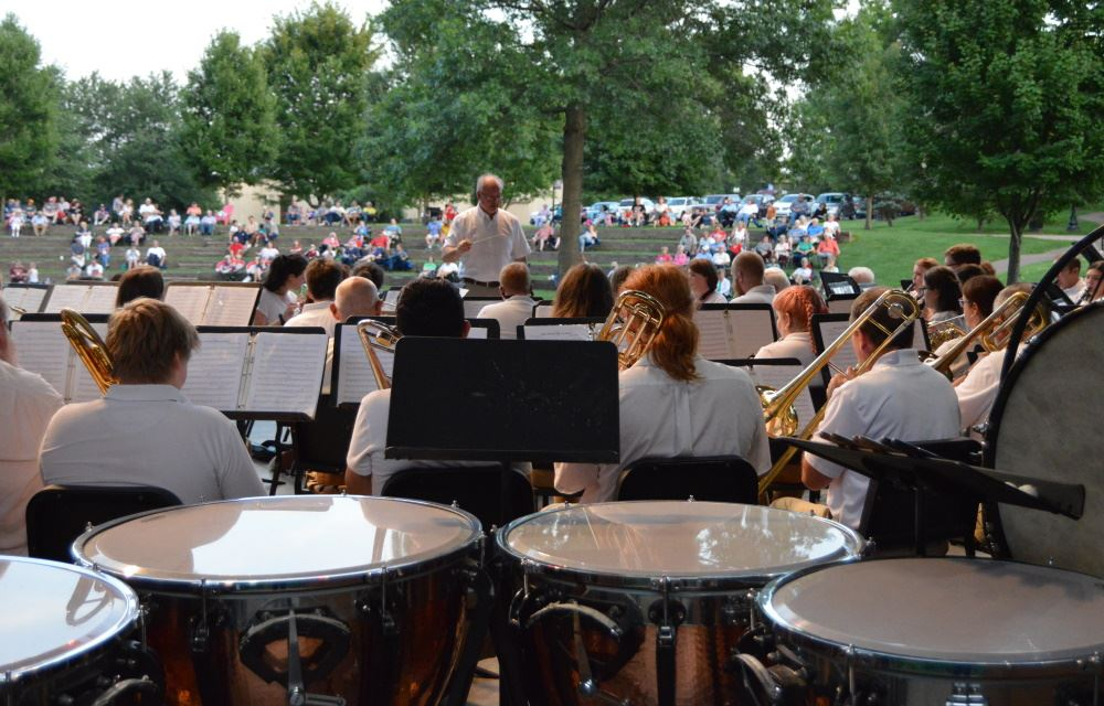 Cookeville Community Band members perform at Dogwood Park.