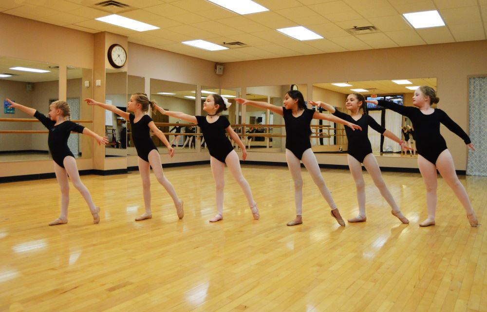 School of Dance students practice in the studio at Cane Creek Recreation Center.