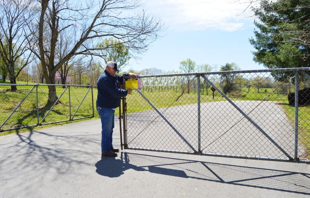 Cane Creek Park gate