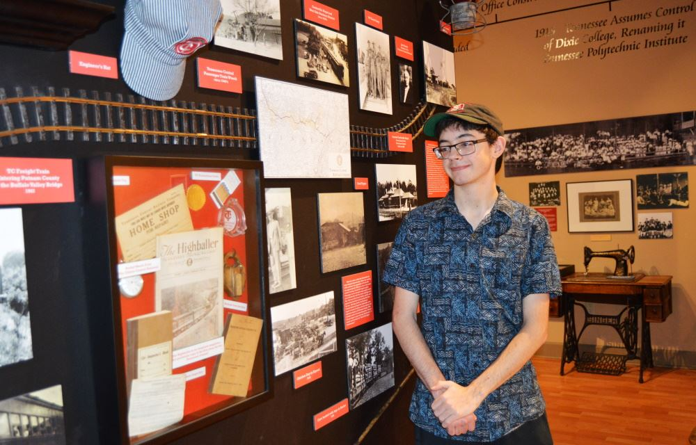 Corbin Dardene at the Cookeville History Museum