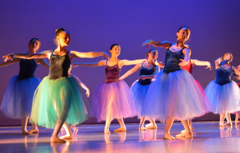 School of dance students perform at a recital.