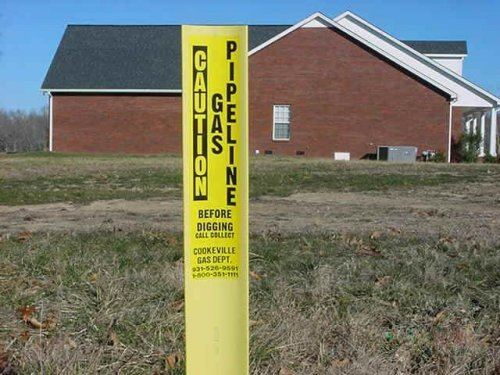 Location Marker for Gas Pipeline Caution Alert