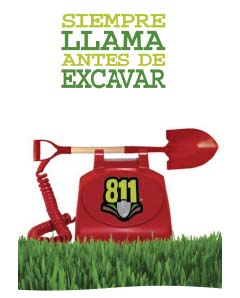 Call 811 Before You Dig Stuffer in Spanish